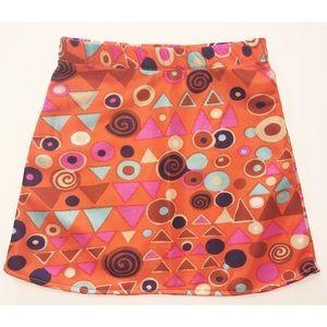 Vintage mid century fabric a line 2t skirt 60s